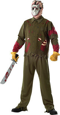 OFFICIAL FRIDAY THE 13TH JASON VOORHEES ADULT HALLOWEEN COSTUME SIZE - Jason X Halloween Costume