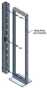 Gestion cables réseaux vertical / Rack vertical cables manager West Island Greater Montréal image 1