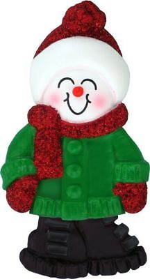 Male Name Snowboy Austin Personalized Christmas Tree Ornament ()