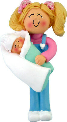 Big Sister Blonde Personalized Christmas Tree Ornament ()
