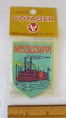 Mississippi Riverboat Steamboat Voyager Patch  World Wide Collectors Series