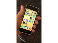 Apple iPhone 5c 32gb Yellow ✨Sim locked 🔒 to 02/tesco/Gaff Gaff network✨
