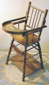 Doll Size Toy Early 1900s High Chair