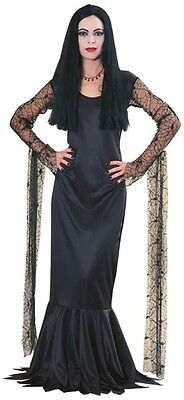 Womens Morticia Addams Halloween Costume Adams Family Dress Adult Outfit S M - Morticia Addams Dress Costume