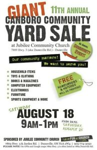 Giant Community Yard Sale - Over 40 Families