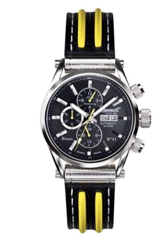 Ingersoll Men's Watch N0.41 Chronograph Automatic Leather IN2813BK Bison