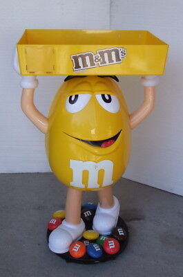 Used M&M Yellow Character Candy Store Display with Storage Tray  for sale  Hamersville