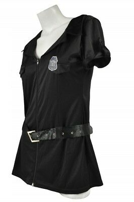 Halloween Costume Adults Women Sheriff Police Cop Dress Uniform Outfit - Black