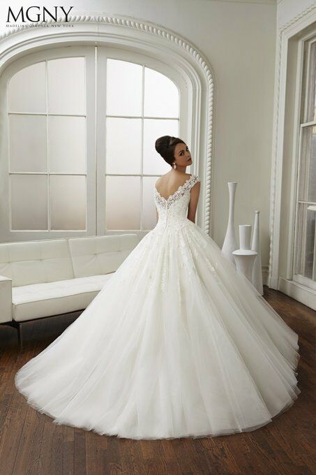 MGNY Madeline Gardner New York Candy Wedding Dress Size UK 6 GBP1900 RRP