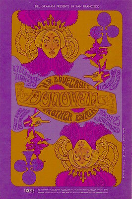 Donovan Mother Earth 1967 BG 94 ORIGINAL/MINT Fillmore Poster