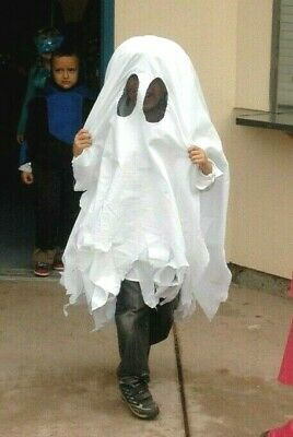 Handmade Halloween Costume Kids Ghost Friendly Easy to Wear 5-7 Year Olds Cute