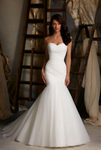 Mori Lee Wedding Gown - size 6 - ivory tulle