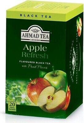 AHMAD TEA Apple Refresh Black Tea 20 Tea Bags for sale  Brooklyn