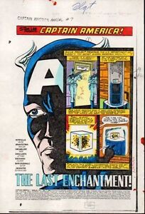 1980s-Captain-America-Annual-7-Marvel-Comics-color-guide-art-splash-page-1-1983