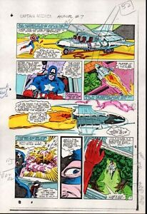 1983-Captain-America-Annual-7-page-7-Marvel-Comics-color-guide-art-1980-039-s