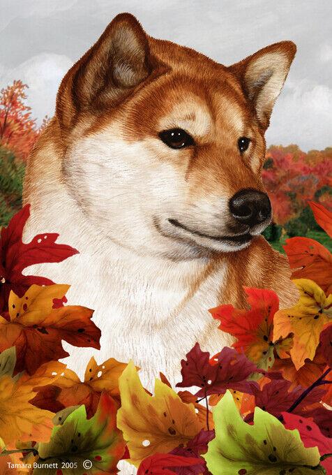 Fall Garden Flag - Shiba Inu 133251