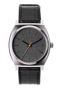 New NIXON Men's Time Teller Leather Band Watch | Black Tape Endeavour Hills Casey Area Preview