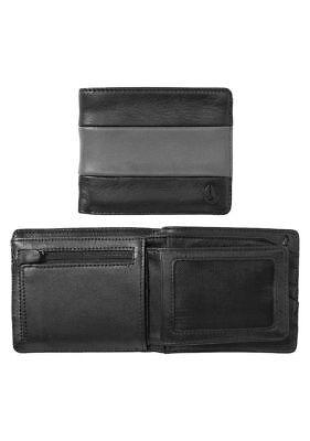 Nixon Satellite Big Bill Bi-Fold ID Coin Wallet (Black / Charcoal) ()
