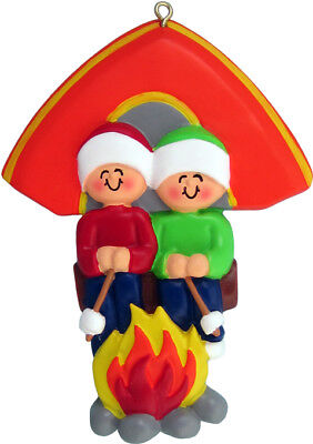 Family Camping 2 3 4 5 People Personalized Christmas Ornament Kit](Camping Ornaments)