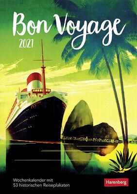 Harenberg Bon Voyage Wochenkalender 2021 mit 53 historischen Reiseplakaten