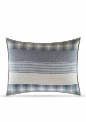 Nautica Durham Quilted Standard Pillow Sham in Blue