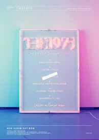 4 x 1975 standing tickets, SSE Hydro Glasgow, Monday 19th December
