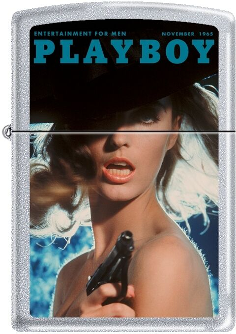 Zippo Playboy November 65 Cover Satin Chrome Windproof Lighter NEW RARE