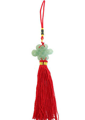 Feng Shui Chinese Jade Mystic Knot Lucky Charm
