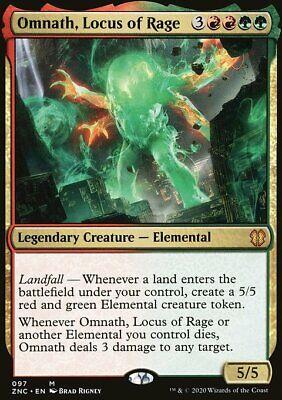 Magic the Gathering MTG Omnath, Locus of Rage Zendikar Rising Commander NM
