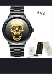 Brand New Mens Skull Watch For Sale