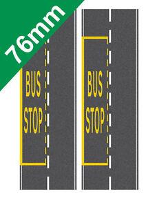 76mm Road System Bus Stop on to suit OO gauge Hornby Self Adhesive Vinyl