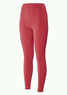 Ladies Terramar Hottotties Soft Brushed Warm Fleece 3.0 Leggings》POPPY RED》XL》