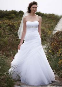 Beautiful new wedding dress from David's bridal