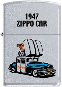 Zippo 1947 Car Satin Chrome VERY RARE, HARD TO FIND