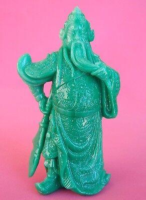 Green Guan Gong, Guan Yu, Kwan Kong, Kuan Kong or Kong Chang w/ Guan Dao sword
