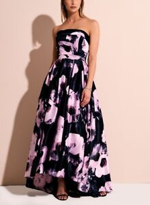 Special occasion women dress navy/pink size 10