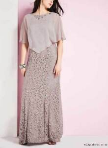 PROM DRESS :Sequin Lace Dress with Chiffon Poncho from Laura