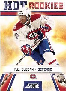 2010-11 Score Hockey #519 PK Subban HRRC