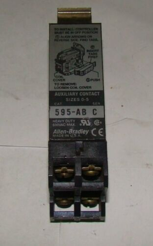 1pc. Allen Bradley 595-AB Series C Auxiliary Contact, Used