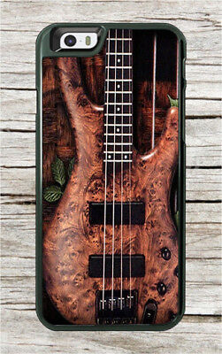 Music Instrument Wood Bass Guitar Case For Iphone 8 Or 8 Plus  Sbg6z