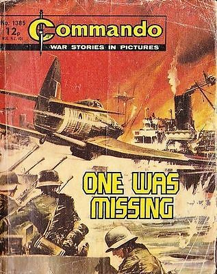 Commando For Action & Adventure Comic Book Magazine #1385 ONE WAS MISSING