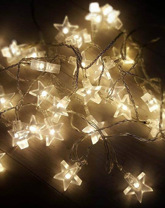 star fairy lights 30 warm white led indoor bedroom christmas string lights home ebay. Black Bedroom Furniture Sets. Home Design Ideas