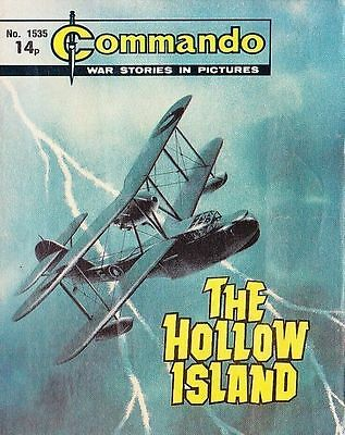 Commando For Action & Adventure Comic Book Magazine #1535 HOLLOW ISLAND