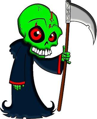 30 Custom Alien Grim Reaper Personalized Address Labels
