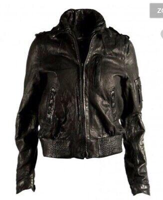 ALL SAINTS Mens *SNITCH* Luxury Leather Biker Jacket, XL 44, £355, Cargo, Conroy
