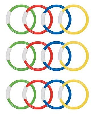 INTEX Underwater Swimming/Diving Pool Toy Rings - (12 Pack)
