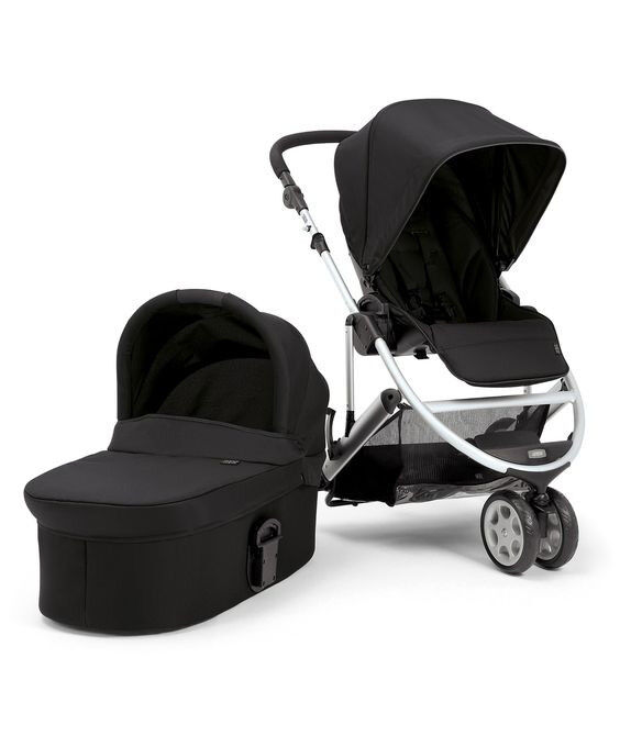 "Black Mama & Papa ""ZOOM"" pram with unused Carrycot"