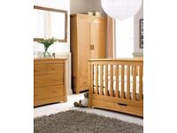 FURNITURE BABY NURSEREY FURNITURE 4-PIECE SET MAMAS AND PAPAS OCEAN OAK