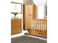 Mamas and Papas Ocean range: cotbed, dresser/changer & wardrobe