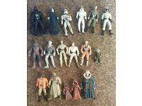 Star Wars action figures with no equipment, no boxes
